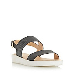Head Over Heels by Dune - Black 'Linsy' eva sole flatform sandal