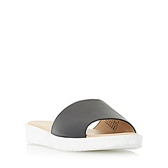 Head Over Heels by Dune - Black 'Lavern' eva sole flatform slider sandal
