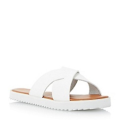 Head Over Heels by Dune - White 'Lyttle' crossover strap slider sandal