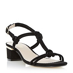 Head Over Heels by Dune - Black knot detail block heel sandal