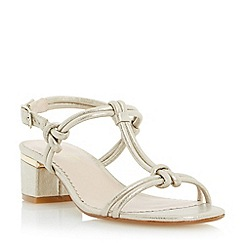 Head Over Heels by Dune - Metallic knot detail block heel sandal
