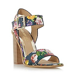 Head Over Heels by Dune - Multicoloured 'Ilana' two part block heel sandal