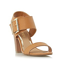Head Over Heels by Dune - Tan 'Idesia' over sized buckle strap sandal