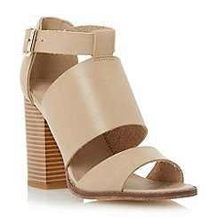 Head Over Heels by Dune - Grey multi strap block heel sandal