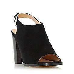 Head Over Heels by Dune - Black 'Iona' peep toe block heel sandal