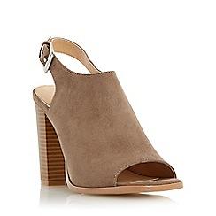 Head Over Heels by Dune - Light green 'Iona' peep toe block heel sandal