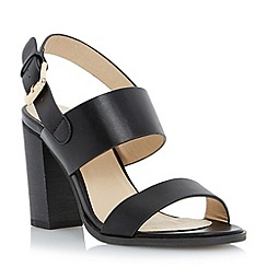 Head Over Heels by Dune - Black wide strap block heel sandal
