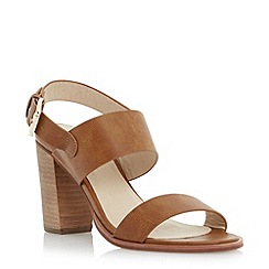 Head Over Heels by Dune - Brown wide strap block heel sandal
