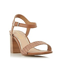 Head Over Heels by Dune - Tan 'Ivette' woven front strap two part sandal