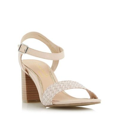 Head Over Heels by Dune Natural Ivette woven front