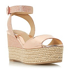 Head Over Heels by Dune - Rose 'Kalmia' two part espadrille wedge sandal