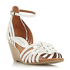 Head Over Heels by Dune - White 'Kruizer' strappy two part wedge sandal