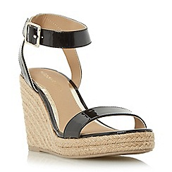 Head Over Heels by Dune - Black 'Kallisto' two part espadrille wedge sandal