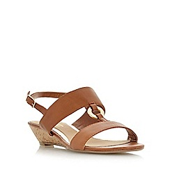 Head Over Heels by Dune - Tan 'Kalipso' ring trim mini wedge sandal