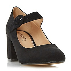 Head Over Heels by Dune - Black 'Arletta' block heel mary jane court shoe