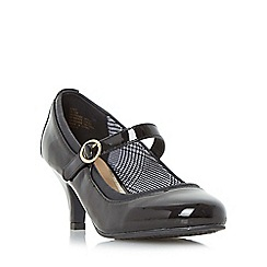 Head Over Heels by Dune - Black 'Addy' mid heel mary jane shoe
