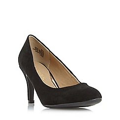 Head Over Heels by Dune - Black 'Annie' round toe mid heel court shoe