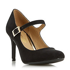 Head Over Heels by Dune - Black 'Anitha' mid heel mary jane shoe