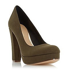 Head Over Heels by Dune - Green 'Adele' platform high heel court shoe