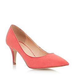 Head Over Heels by Dune - Red pointed toe mid heel court shoe
