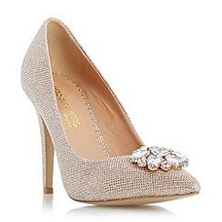 Head Over Heels by Dune - Metallic pointed toe jewel trim court shoe