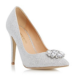 Head Over Heels by Dune - Metallic pointed toe jewel trim court shoe