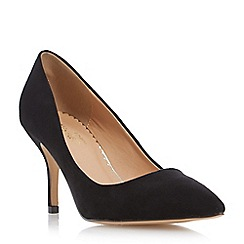 Head Over Heels by Dune - Black pointed toe mid heel court shoe
