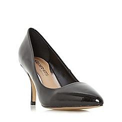 Head Over Heels by Dune - Black 'Andrina' pointed toe mid heel court shoe