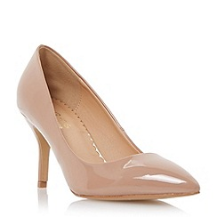 Head Over Heels by Dune - Neutral pointed toe mid heel court shoe