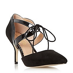Head Over Heels by Dune - Black 'Adeller' lace up pointed toe court shoe