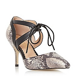 Head Over Heels by Dune - Natural 'Adeller' lace up pointed toe court shoe
