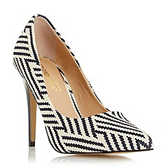 Head Over Heels by Dune - Multicoloured 'Almeda' metal high heel court shoe