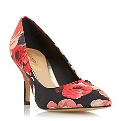 Head Over Heels by Dune - Multicoloured 'Anito' floral print mid heel court shoe