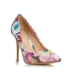 Head Over Heels by Dune - Multicoloured 'Addyson' pointed toe high heel court shoe