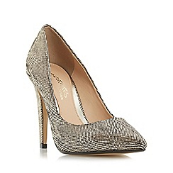 Head Over Heels by Dune - Gold 'Addyson' pointed toe high heel court shoe