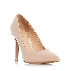 Head Over Heels by Dune - Natural 'Addyson' pointed toe high heel court shoe