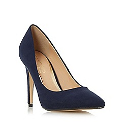 Head Over Heels by Dune - Navy 'Addyson' pointed toe high heel court shoe