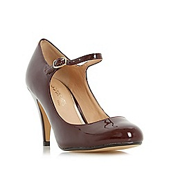 Head Over Heels by Dune - Maroon 'Agnes' mary jane court shoe