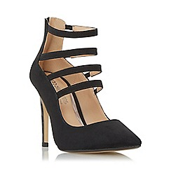 Head Over Heels by Dune - Black 'Alora' strappy high heel court shoe