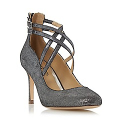 Head Over Heels by Dune - Silver 'Alisha' cross strap court shoe