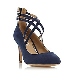 Head Over Heels by Dune - Navy 'Alisha' cross strap court shoe