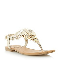 Head Over Heels by Dune - Metallic flower detail toe post  sandal