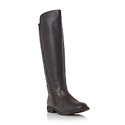 Head Over Heels by Dune - Black 'Trusty' quilted back riding boot