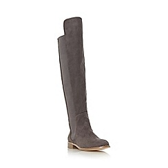 Head Over Heels by Dune - Grey 'Toulus' elasticated panel over the knee boot