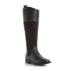 Head Over Heels by Dune - Black angled collar riding boot