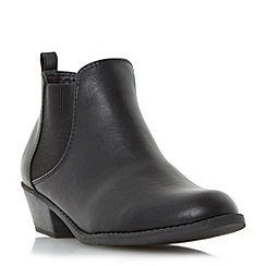 Head Over Heels by Dune - Black 'Piro' elasticated panel ankle boot