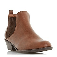 Head Over Heels by Dune - Tan 'Piro' elasticated panel ankle boot