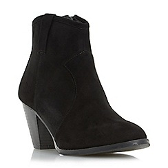 Head Over Heels by Dune - Black 'Pacha' western ankle boot