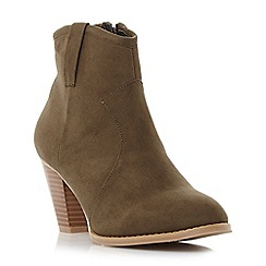 Head Over Heels by Dune - Green 'Pacha' western ankle boot
