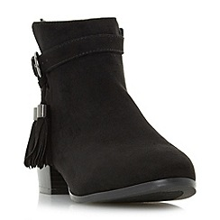 Head Over Heels by Dune - Black 'Patrice' tassel detail ankle boot